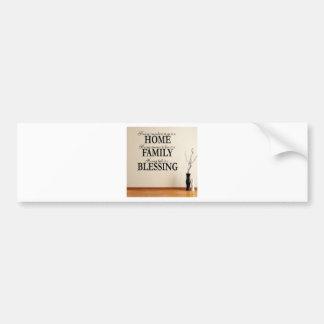 Huis + Familie = Zegenend Bumpersticker