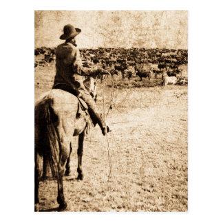 Huis op de Eigenaar van een ranch van de Cowboy Briefkaart
