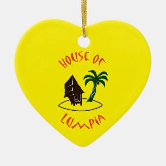 Huis van Lumpia Keramisch Hart Ornament