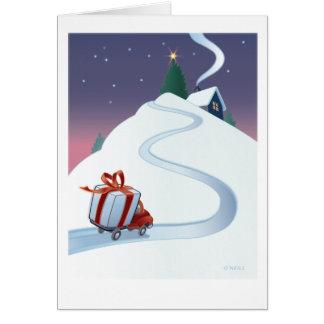 """""""Huis voor Kerstmis"""" door Gerry O'Neill Wenskaart"""