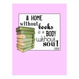Huis zonder Boeken = Lichaam zonder ziel Briefkaart