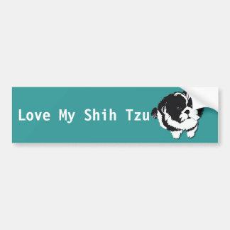 Huisdier van de Hond van Tzu van Shih het Zwarte W Bumpersticker