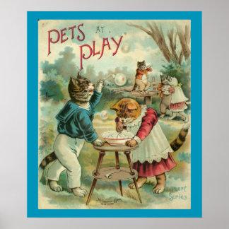 Huisdieren bij Spel Poster