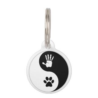 Huisdieren - het Label van identiteitskaart van Honden Penning