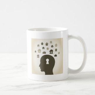 Huisvest een hoofd koffiemok