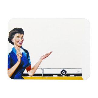 Huisvrouw en Nieuwe Wasmachine Magneet