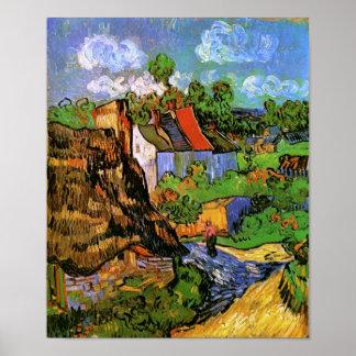 Huizen in Auvers Van Gogh Fine Art. Poster