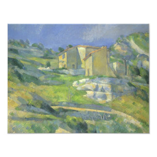 Huizen in de Provence door Cezanne, Vintage Fine Custom Uitnodging
