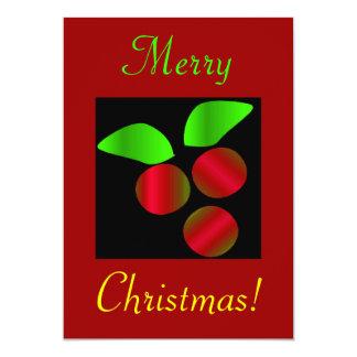 Hulst II van Kerstmis Gepersonaliseerde Uitnodigingen