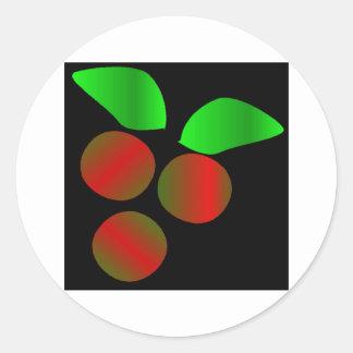 Hulst III van Kerstmis Ronde Sticker