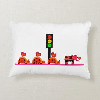 Humeurig Rood licht met de Caravan van het Hart Decoratief Kussen