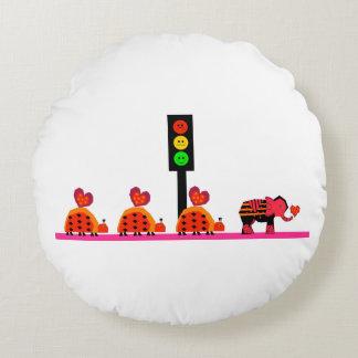 Humeurig Rood licht met de Caravan van het Hart Rond Kussen