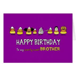 Humoristisch Halloween - Verjaardag voor Broer - Briefkaarten 0