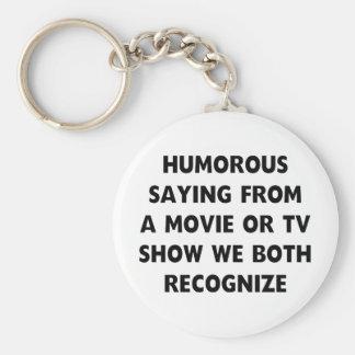 Humoristisch Spreuk Basic Ronde Button Sleutelhanger