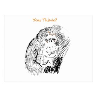 Humoristische Chimpansee Briefkaart