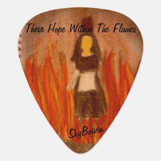 hun hoop binnen de oogst van de vlammengitaar gitaar plectrum 0