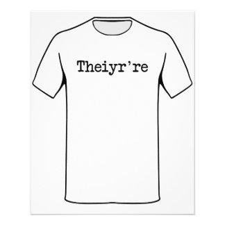 Hun Theiyr're daar zijn zij Typo Grammatica Fullcolor Folder