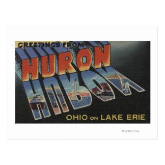 Huron, Ohio - Meer Erie - de Grote Scènes van de Briefkaart