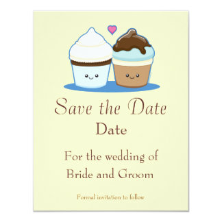 Huwelijk Cupcakes 10,8x13,9 Uitnodiging Kaart