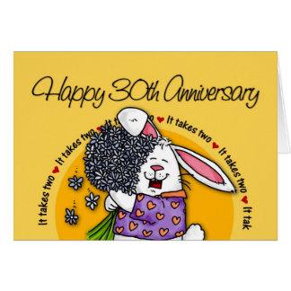 Huwelijk - Gelukkige 30ste Verjaardag Kaart