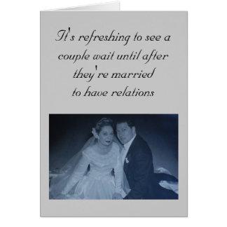 Huwelijk - het is zich verfrist om een paar te wenskaart