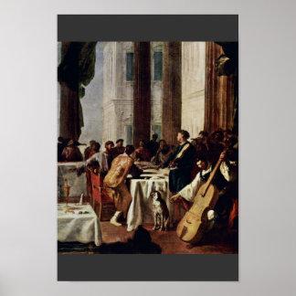 Huwelijk in Cana, Detail door Schönfeld Johann Poster