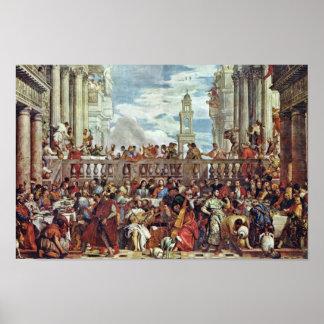 Huwelijk in Cana door Veronese Paolo (Beste Poster