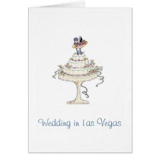 Huwelijk in de Bruid van Las Vegas & Bruidegom, de Briefkaarten 0