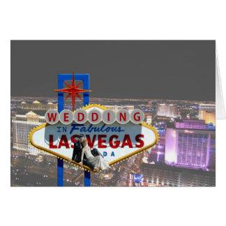 Huwelijk in Van Achtergrond Las Vegas Uitzicht van Wenskaart