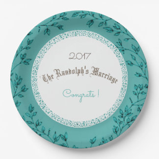 Huwelijk-Jubileum-klassiek-viering-sjabloon Papieren Bordjes