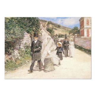 Huwelijk Maart door Robinson, Impressionism Weddin Gepersonaliseerde Uitnodiging