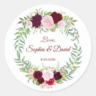 Huwelijk RSVP van Bourgondië van de Kroon van de Ronde Sticker