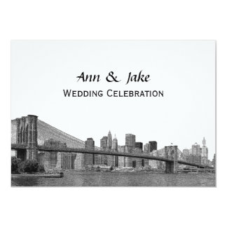 Huwelijk van Bklyn van de Horizon NYC het Geëtste Kaart