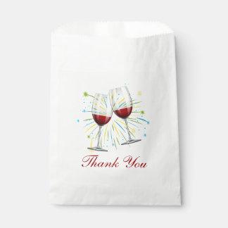 Huwelijk van Bourgondië van de Glazen van de wijn Bedankzakjes 0
