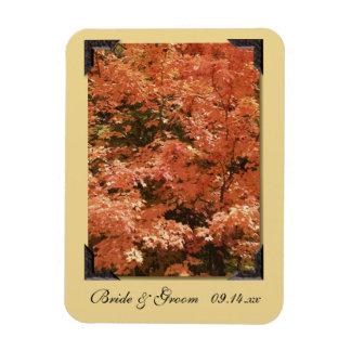 Huwelijk van de Bladeren van de herfst bewaart het Rechthoek Magneet