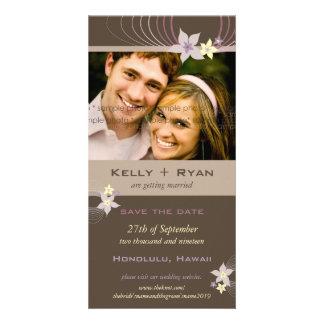 Huwelijk van de Bloemen van Frangipani van Ikebana Kaart
