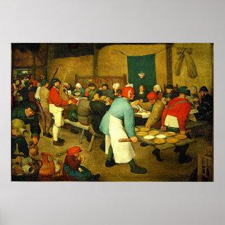 Huwelijk van de Boer van Pieter Bruegel's het (156 Poster