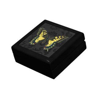 huwelijk van de damast het zwarte gele vlinder decoratiedoosje