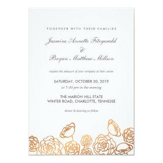 Huwelijk van de Folie van de luxe het Gouden 12,7x17,8 Uitnodiging Kaart
