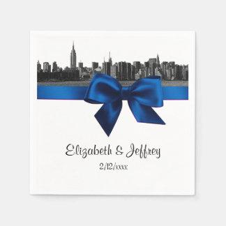Huwelijk van de Koningsblauwen van NYC het Brede Wegwerp Servet