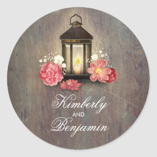 Huwelijk van de Schuur van de vintage Lantaarn het Ronde Sticker