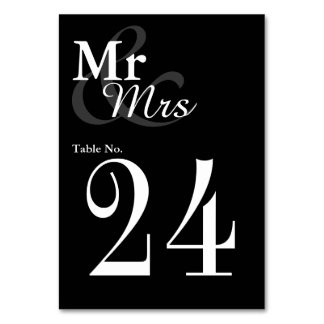Huwelijk van de Typografie van Mr&Mrs het