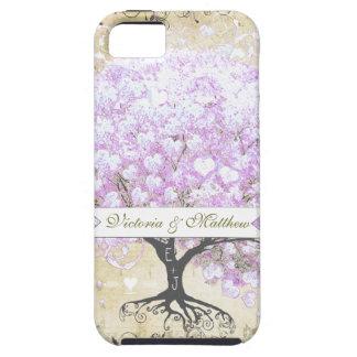 Huwelijk van de Vogel van de Boom van de Lavendel Tough iPhone 5 Hoesje