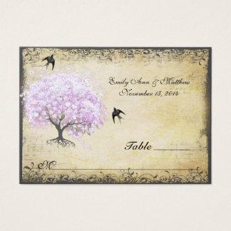 Huwelijk van de Vogel van de Boom van de Lavendel Visitekaartjes