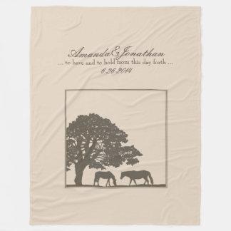 Huwelijk van het Boerderij van het bruine en Paard Fleece Deken