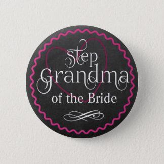 Huwelijk van het Hart van het bord het Roze | Ronde Button 5,7 Cm
