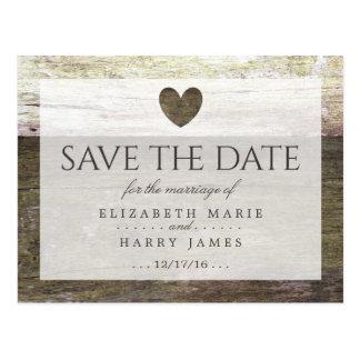 Huwelijk van het Hart van het land bewaart het Briefkaart