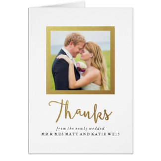 Huwelijk van het Lijst van de Folie van Faux dankt Notitiekaart