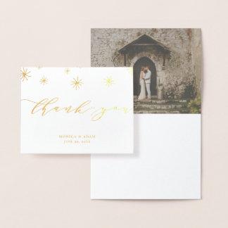 Huwelijk van het Manuscript van Pom van Pom dankt Folie Kaarten