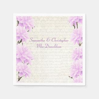Huwelijk van het mooie pastelkleur het lila papieren servet
